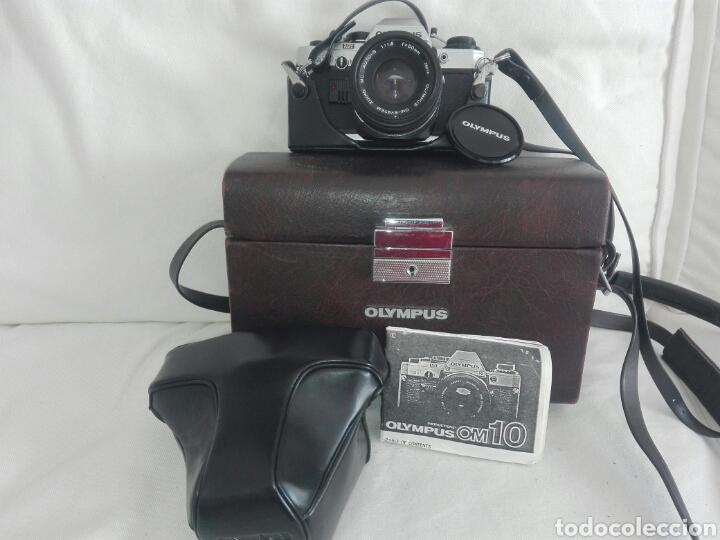 CAMARA FOTOS REFLEX OLYMPUS OM10-OM 10+OBJETIVO ZUIKO 50 MM+MALETIN Y MANUAL (Cámaras Fotográficas - Réflex (no autofoco))
