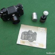 Cámara de fotos: ANTIGUA CÁMARA DE FOTOS CANON F-1, VERSIÓN TELEFÓNICA. Lote 150967638