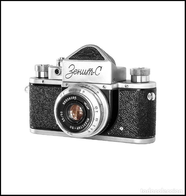 Cámara de fotos: ZENIT C - EXQUISITA REFLEX SOVIETICA DE 1955. EN EXCELENTE ESTADO DE CONSERVACION. - Foto 2 - 160445118