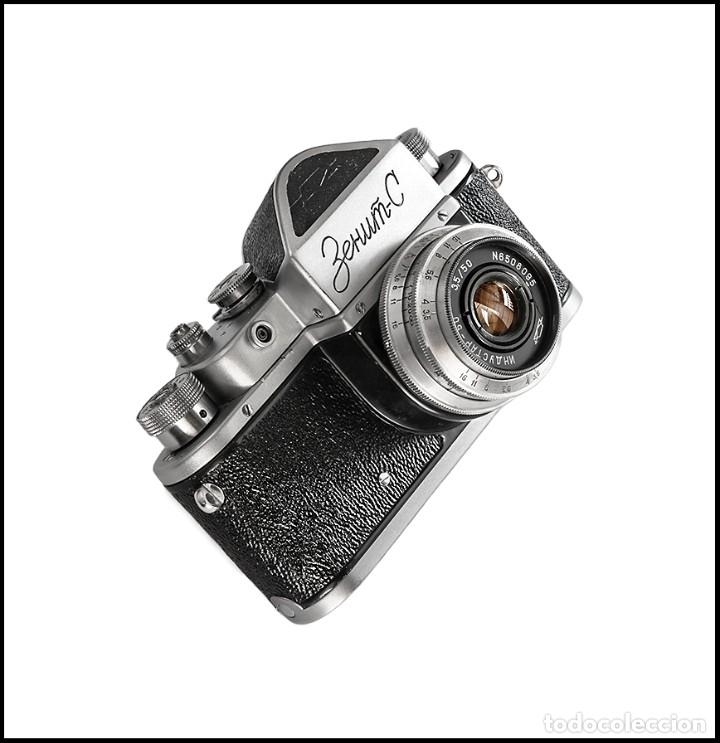 Cámara de fotos: ZENIT C - EXQUISITA REFLEX SOVIETICA DE 1955. EN EXCELENTE ESTADO DE CONSERVACION. - Foto 8 - 160445118