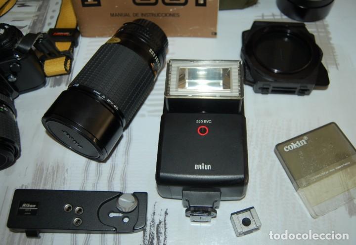 Cámara de fotos: CAMARA NIKON F-301 + OBJETIVO 75-200MM + FLASH + MALETA + COMPLEMENTOS - Foto 3 - 161451410