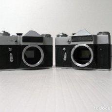Cámara de fotos: DOS (2) CAMARAS REFLEX ANALOGICA ZENIT E AVERIADAS-LOTE 1 (REF 34-35). Lote 161683798