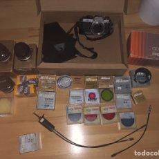 Cámara de fotos: CAMARA NIKON FE2 CON ACCESORIOS. Lote 162649264