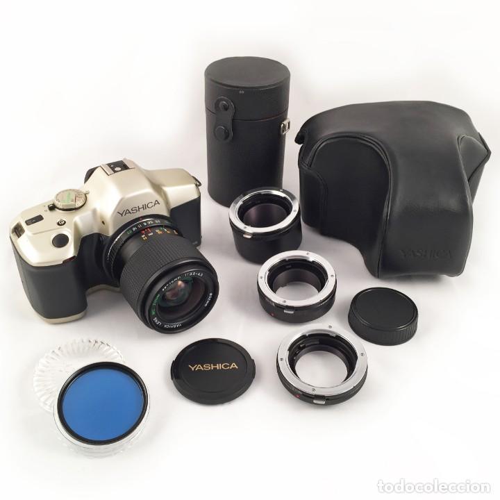 YASHICA 109 MULTIPROGRAM SLR 35MM KYOCERA + ZOOM 35-70, 3.5-4.5 + ACCESORIOS (Cámaras Fotográficas - Réflex (no autofoco))