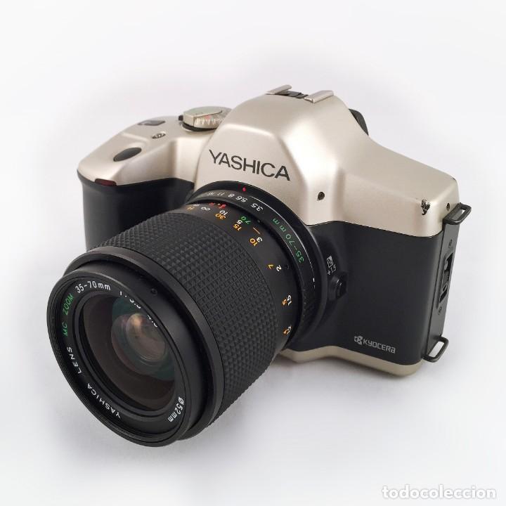 Cámara de fotos: YASHICA 109 Multiprogram SLR 35mm Kyocera + Zoom 35-70, 3.5-4.5 + accesorios - Foto 2 - 164467550