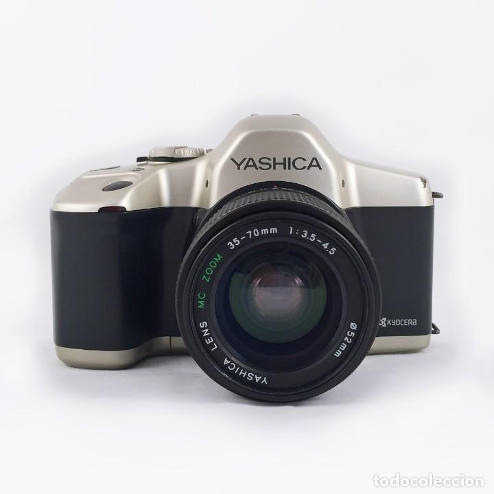 Cámara de fotos: YASHICA 109 Multiprogram SLR 35mm Kyocera + Zoom 35-70, 3.5-4.5 + accesorios - Foto 3 - 164467550