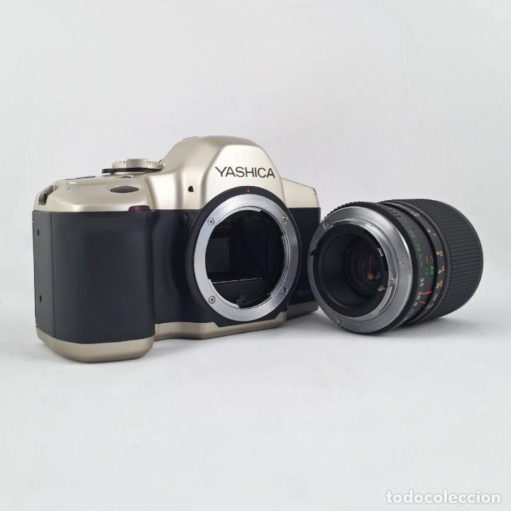 Cámara de fotos: YASHICA 109 Multiprogram SLR 35mm Kyocera + Zoom 35-70, 3.5-4.5 + accesorios - Foto 12 - 164467550