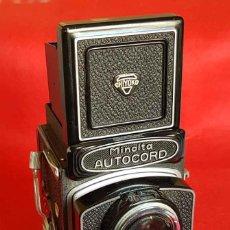 Cámara de fotos: CAMARA MINOLTA AUTOCORD TLR, 6 X 6 CM. Lote 166015758