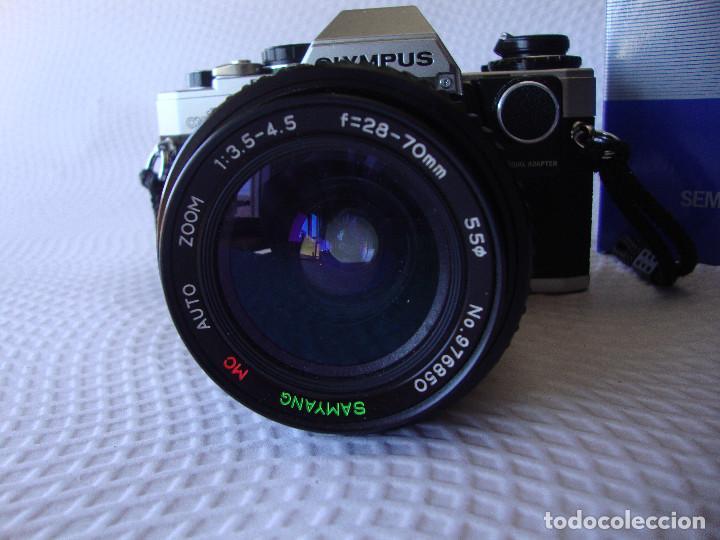 Cámara de fotos: ANTIGUA EH IMPECABLE CAMARA DE FOTOS OLYMPUS OM 10 - Foto 2 - 166536866