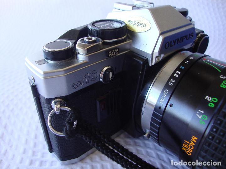 Cámara de fotos: ANTIGUA EH IMPECABLE CAMARA DE FOTOS OLYMPUS OM 10 - Foto 5 - 166536866