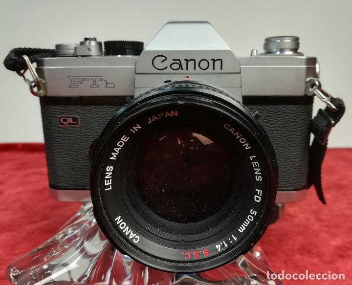 CÁMARA FOTOGRÁFICA CANON FTB. (CIRCA 1973) JAPÓN (Cámaras Fotográficas - Réflex (no autofoco))