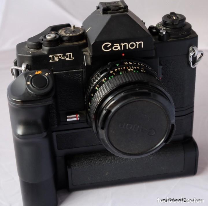 Cámara de fotos: Canon F1 + Mot drive + 50 1,4 fd SC.PERFECTA - Foto 5 - 43729377