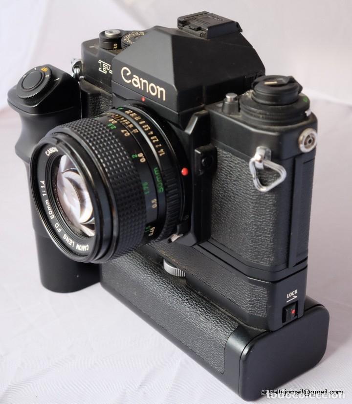 CANON F1 + MOT DRIVE + 50 1,4 FD SC.PERFECTA (Cámaras Fotográficas - Réflex (no autofoco))