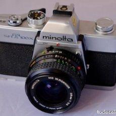 Cámara de fotos: MINOLTA SRT 100X CON MINOLTA ROKKOR 28 MM F/2,8. Lote 169176032