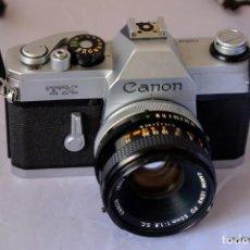 Cámara de fotos: CANON TX RARA CANON REFLEX MECÁNICA CON CANOND FD 50 F/1,8.IMPECABLE.. Lote 169426240