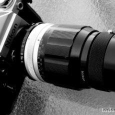 Cámara de fotos: NIKON F2, PRISMA SF. ESPECIAL CON 200 MM F/4 NIKON ORIGINAL. DE COLECCIÓN, IMPECABLE.. Lote 169909084