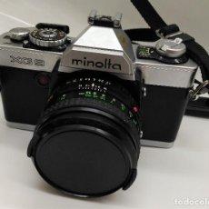 Cámara de fotos: CAMARA REFLEX MINOLTA XG9 - CON OBJETIVO MD ROKKOR 50 MM - FUNCIONA !!. Lote 170170380