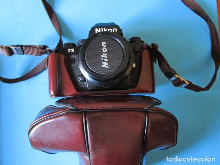 CÁMARA NIKON F3 -OBJETIVO 50 MM F/1.4 - GRAN ANGULAR 28MM 1:2.8 - ZOMM 80-200 MM 1:4 - FLASH SB-17 (Cámaras Fotográficas - Réflex (no autofoco))