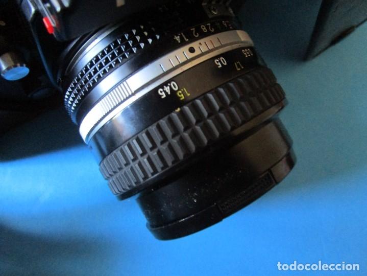 Cámara de fotos: CÁMARA NIKON F3 -OBJETIVO 50 MM F/1.4 - GRAN ANGULAR 28MM 1:2.8 - ZOMM 80-200 MM 1:4 - FLASH SB-17 - Foto 10 - 175161649
