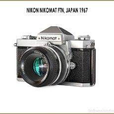 Cámara de fotos: NIKON NIKOMAT FT-N. SOBERBIA REFLEX JAPONESA DE 1967. EN OPTIMO ESTADO DE CONSERVACION. Lote 175329920
