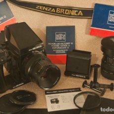 Cámara de fotos: EQUIPO ZENZA BRÓNICA GS-1CON 2 OBJETIVOS Y MUCHOS ACCESORIOS, TODO EN MALETA UNDERWATER KINETICS. Lote 176345635
