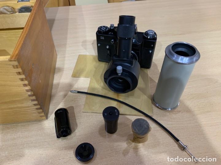ZENIT 11 CON ACCESORIOS PARA MICROFOTOGRAFIA (Cámaras Fotográficas - Réflex (no autofoco))