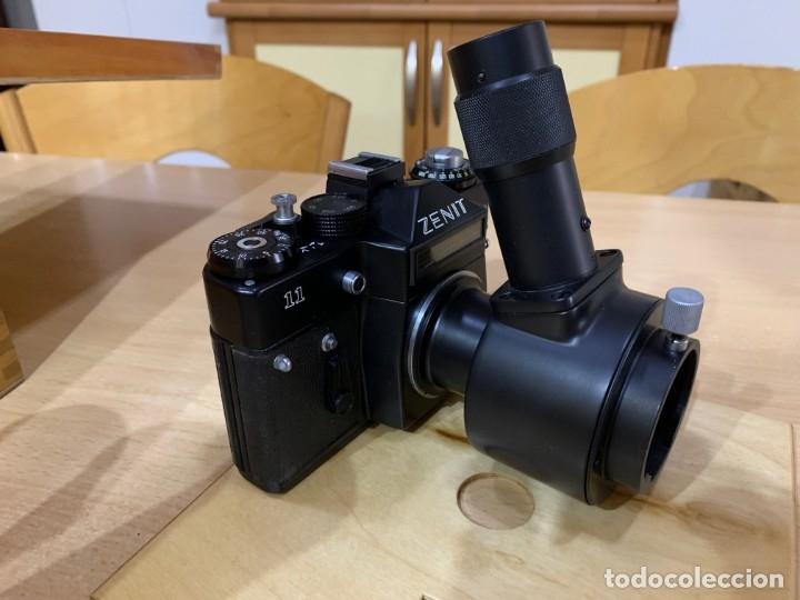 Cámara de fotos: ZENIT 11 CON ACCESORIOS PARA MICROFOTOGRAFIA - Foto 3 - 176569049