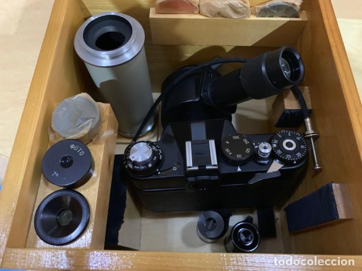 Cámara de fotos: ZENIT 11 CON ACCESORIOS PARA MICROFOTOGRAFIA - Foto 5 - 176569049