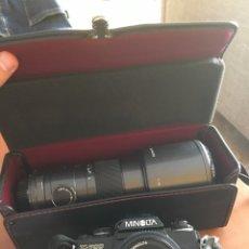Cámara de fotos: CAMARA MINOLTA ANTIGUA X-700 CON TELESCOPIO SIGMA 5,6. Lote 177030674