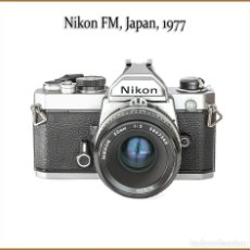 Appareil photos: NIKON FM, CLASICA REFLEX VERSION CROMADA DE 1977. ESTADO: NUEVA.. Lote 177740622