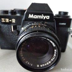 Cámara de fotos: MAMIYA ZE-2 JAPAN CON OBJETIVO Y FUNDA ORIGINAL. Lote 180240743