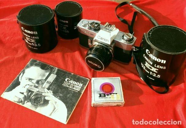 CÁMARA CANON EX AUTO (AÑOS 70) EQUIPO COMPLETO: CÁMARA + 4 OBJETIVOS (50, 35, 95 Y 125 MM) + FILTRO (Cámaras Fotográficas - Réflex (no autofoco))
