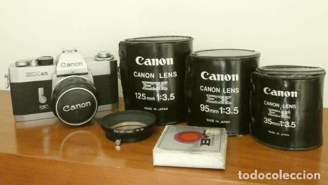 Cámara de fotos: Cámara CANON EX auto (años 70) Equipo Completo: Cámara + 4 Objetivos (50, 35, 95 y 125 mm) + filtro - Foto 12 - 181596315