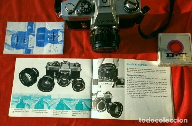 Cámara de fotos: Cámara CANON EX auto (años 70) Equipo Completo: Cámara + 4 Objetivos (50, 35, 95 y 125 mm) + filtro - Foto 15 - 181596315