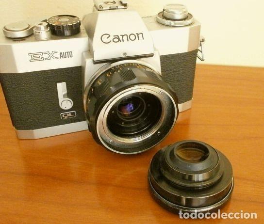 Cámara de fotos: Cámara CANON EX auto (años 70) Equipo Completo: Cámara + 4 Objetivos (50, 35, 95 y 125 mm) + filtro - Foto 17 - 181596315