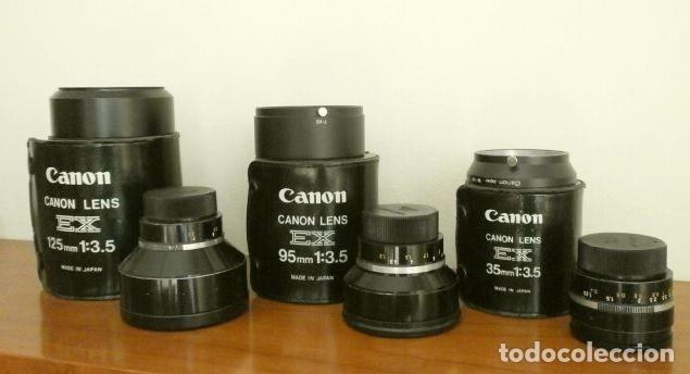 Cámara de fotos: Cámara CANON EX auto (años 70) Equipo Completo: Cámara + 4 Objetivos (50, 35, 95 y 125 mm) + filtro - Foto 18 - 181596315