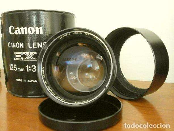 Cámara de fotos: Cámara CANON EX auto (años 70) Equipo Completo: Cámara + 4 Objetivos (50, 35, 95 y 125 mm) + filtro - Foto 19 - 181596315