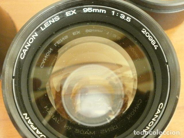 Cámara de fotos: Cámara CANON EX auto (años 70) Equipo Completo: Cámara + 4 Objetivos (50, 35, 95 y 125 mm) + filtro - Foto 22 - 181596315