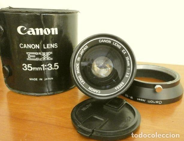 Cámara de fotos: Cámara CANON EX auto (años 70) Equipo Completo: Cámara + 4 Objetivos (50, 35, 95 y 125 mm) + filtro - Foto 24 - 181596315