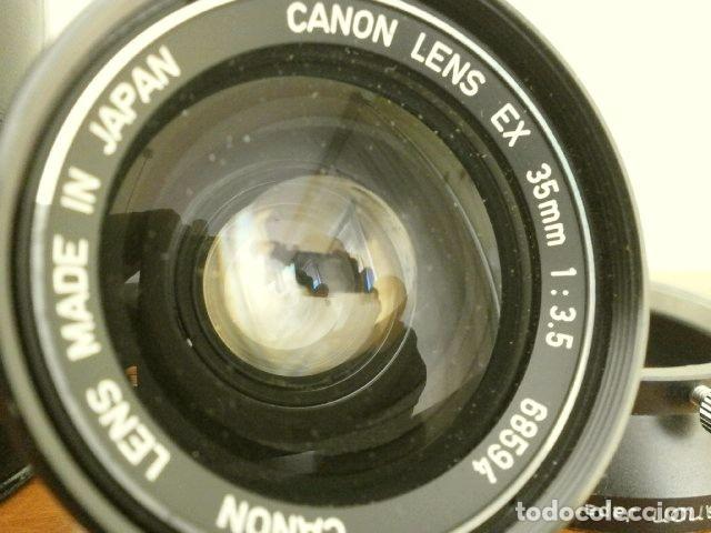 Cámara de fotos: Cámara CANON EX auto (años 70) Equipo Completo: Cámara + 4 Objetivos (50, 35, 95 y 125 mm) + filtro - Foto 25 - 181596315