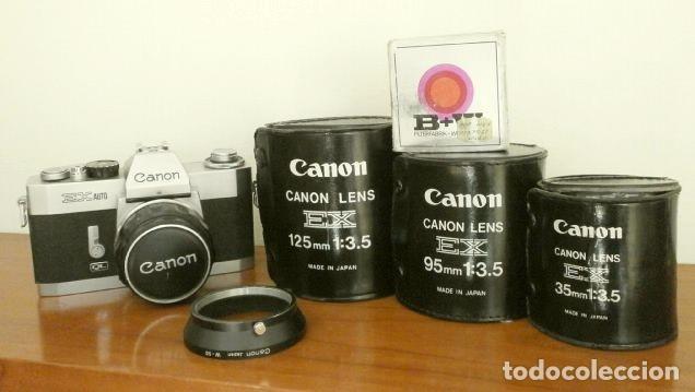 Cámara de fotos: Cámara CANON EX auto (años 70) Equipo Completo: Cámara + 4 Objetivos (50, 35, 95 y 125 mm) + filtro - Foto 31 - 181596315