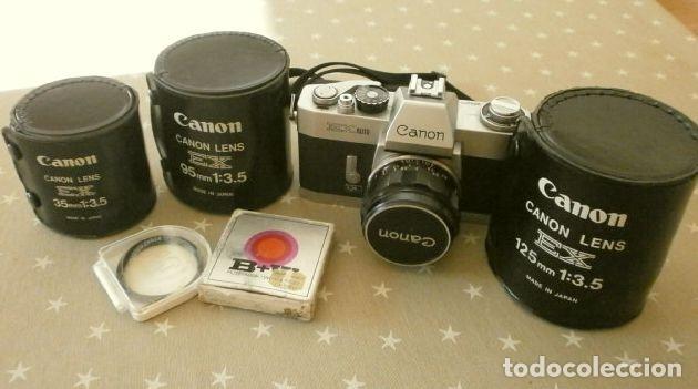 Cámara de fotos: Cámara CANON EX auto (años 70) Equipo Completo: Cámara + 4 Objetivos (50, 35, 95 y 125 mm) + filtro - Foto 32 - 181596315