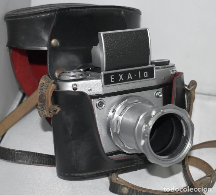 Cámara de fotos: IHAGEE EXA 1 A,CUERPO+FUNDA+ANILLOS.CAMARA REFLEX MANUAL,ALEMANIA, DDR,1977.MUY BUEN ESTADO.FUNCIONA - Foto 2 - 182362460