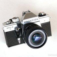 Cámara de fotos: *C1982* ● PENTACON PRAKTICA MTL 3 (EXC) SLR + ANGULAR AUTO-BEROFLEX F2.8 28MM (EXC) (FUNDA). Lote 184230103
