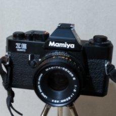 Cámara de fotos: CÁMARA MAMIYA ZE QUARTZ CON OBJETIVO MAMIYA -SEKOR E 1980. Lote 188551985