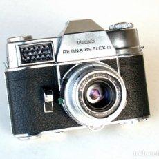Cámara de fotos: *C1963* • KODAK RETINA REFLEX III (TYPE 041 BIG METER) • SCHNEIDER XENAR F2.8 SYNCHRO COMPUR (FUNDA). Lote 189500071