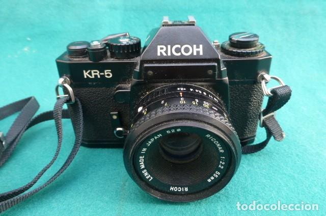 Cámara de fotos: Camara Reflex Ricoch KR 5..Japon. Objetivo 55mm, 2,2.Carga y dispara....Preciosa - Foto 2 - 191264902