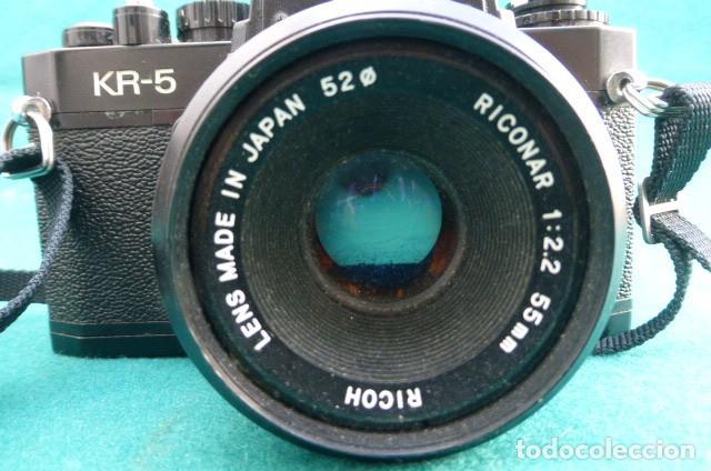 Cámara de fotos: Camara Reflex Ricoch KR 5..Japon. Objetivo 55mm, 2,2.Carga y dispara....Preciosa - Foto 5 - 191264902