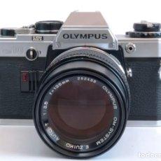 Cámara de fotos: OLYMPUS OM-10 + E.ZUIKO AUTO-T 135MM F3.5. Lote 191825282