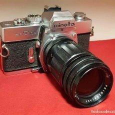 Cámara de fotos: CAMARA MINOLTA SRT 102 CON TELE 3.5/135 MM. Lote 192739407